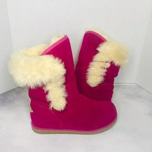 Shiekh Faux Fur Pink Winter Boots